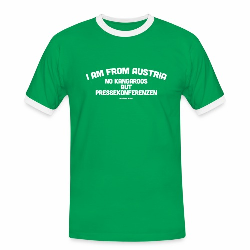 Pressekonferenzen - Männer Kontrast-T-Shirt