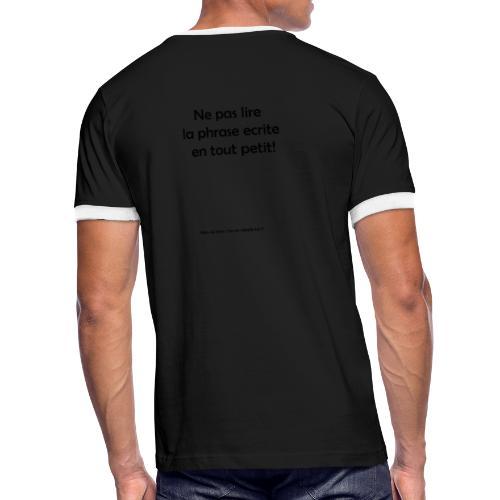 citation 1 - T-shirt contrasté Homme
