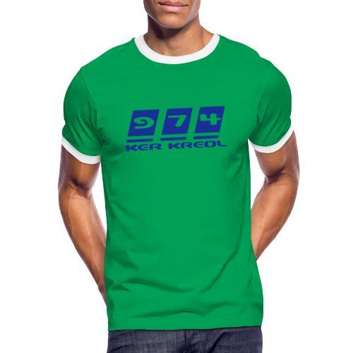 Ecriture 974 Ker Kreol - T-shirt contrasté Homme