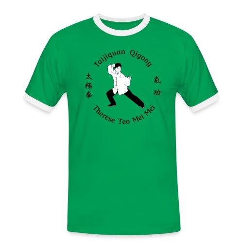 Teo Mei Mei Black Logo - Kontrast-T-shirt herr