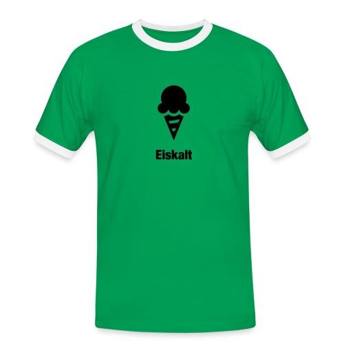 Eiskalt - Männer Kontrast-T-Shirt