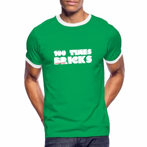 100 TIMES BRICKS retrò - Maglietta Contrast da uomo