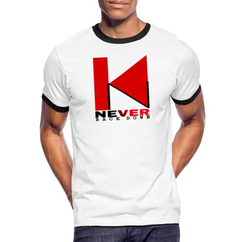 NEVER BACK DOWN - T-shirt contrasté Homme