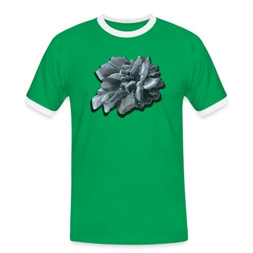 Gipsrose - Männer Kontrast-T-Shirt