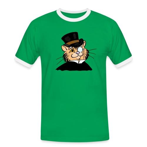 Gatto nonno - Maglietta Contrast da uomo