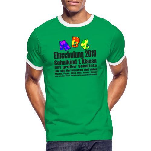 Einschulung Jahr 2019 - Männer Kontrast-T-Shirt