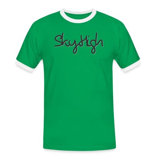 SkyHigh - Men's Premium T-Shirt - Black Lettering - Men's Ringer Shirt