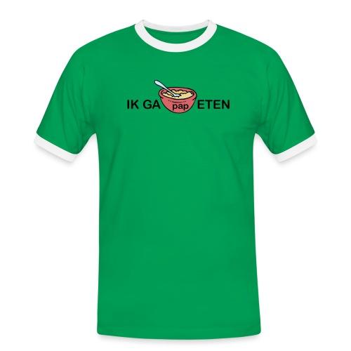 IK GA PAP ETEN - Mannen contrastshirt