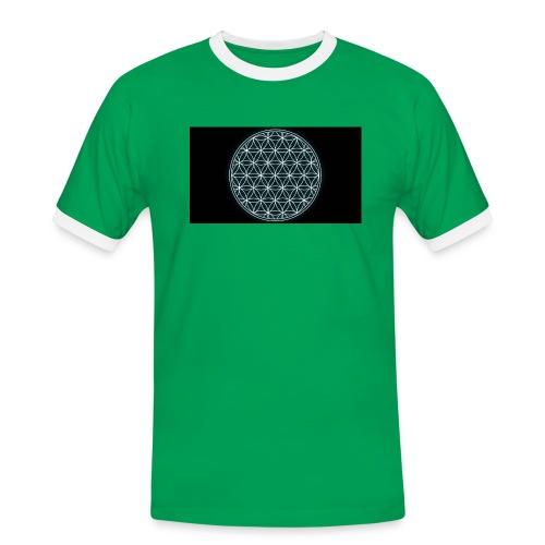 flower of life - Mannen contrastshirt