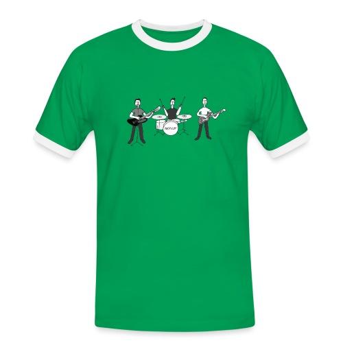 Schwarzweiss Band Knopilot - Männer Kontrast-T-Shirt
