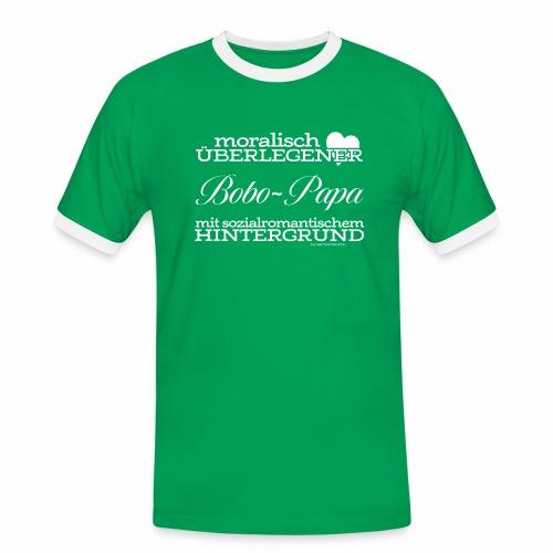 Bobo-Papa - Männer Kontrast-T-Shirt