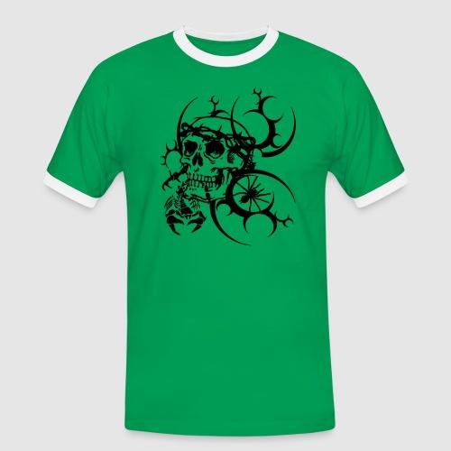 Tattoo Totenkopf - Männer Kontrast-T-Shirt