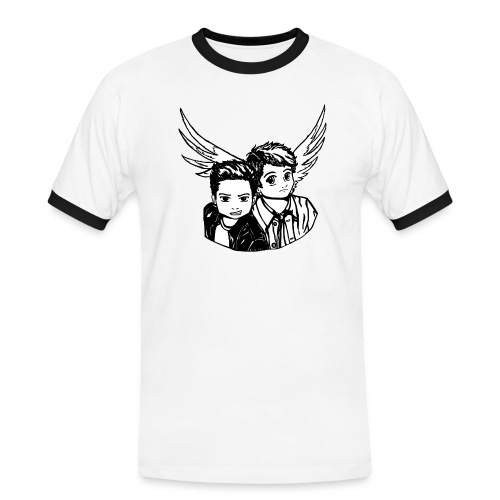 Destiel i sort/hvid - Herre kontrast-T-shirt