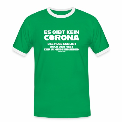 Kein Corona - Männer Kontrast-T-Shirt