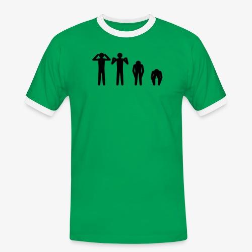 Hode, skulder, kne og tå - Kontrast-T-skjorte for menn