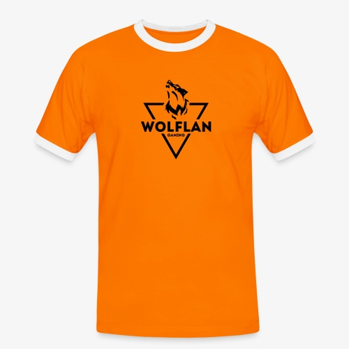 WolfLAN Gaming Logo Black - Men's Ringer Shirt