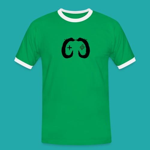 Crowd Control Controller Logo Black Large - Men's Ringer Shirt