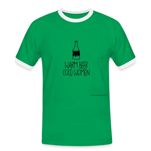 warm beer cold women vk - Mannen contrastshirt