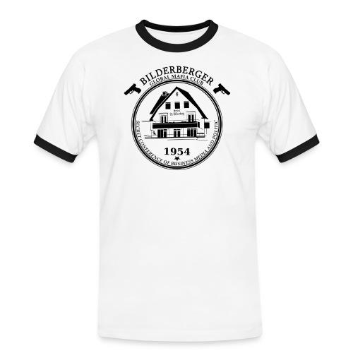 Bilderberg Logo - Männer Kontrast-T-Shirt