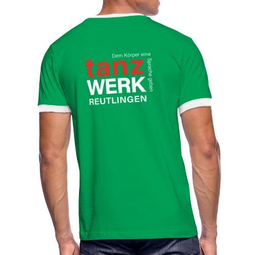 Tanzwerk - Standard - weiß - Männer Kontrast-T-Shirt