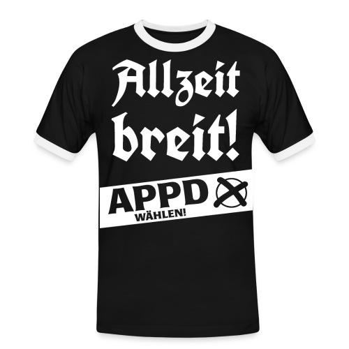 Allzeit breit! APPD wählen! - Männer Kontrast-T-Shirt