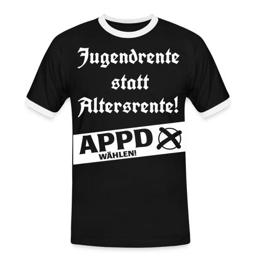 Jugendrentestatt Altersrente - APPD wählen! - Männer Kontrast-T-Shirt