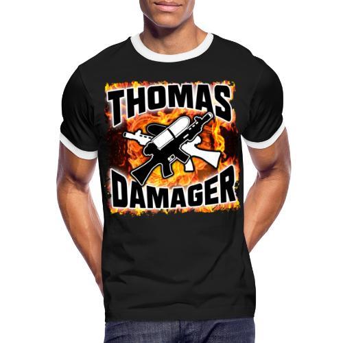 Flames Logo - Männer Kontrast-T-Shirt