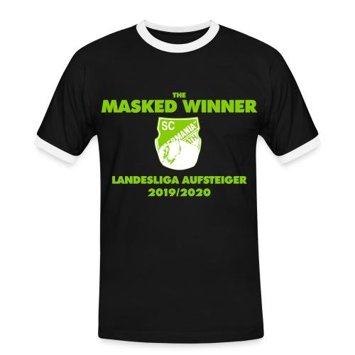 The Masked Winner Aufstieg - Männer Kontrast-T-Shirt