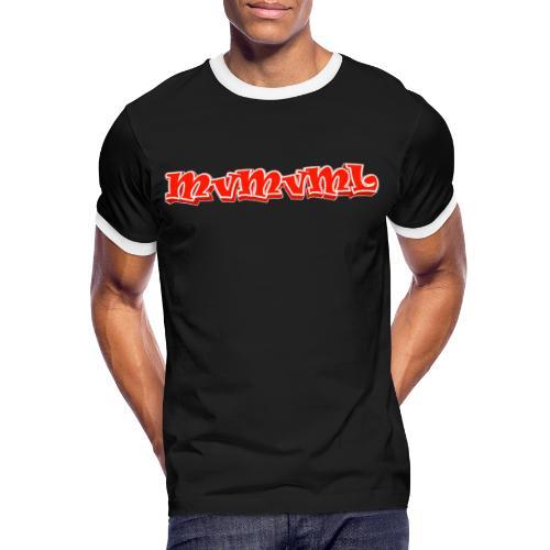 MvMvML logo - Mannen contrastshirt