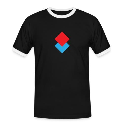 wzortroj - Koszulka męska z kontrastowymi wstawkami