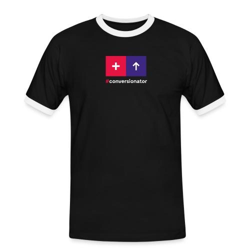 Conversionator mit Plus & Pfeil - Männer Kontrast-T-Shirt