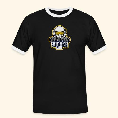 BOMBER LAN Logo - Männer Kontrast-T-Shirt