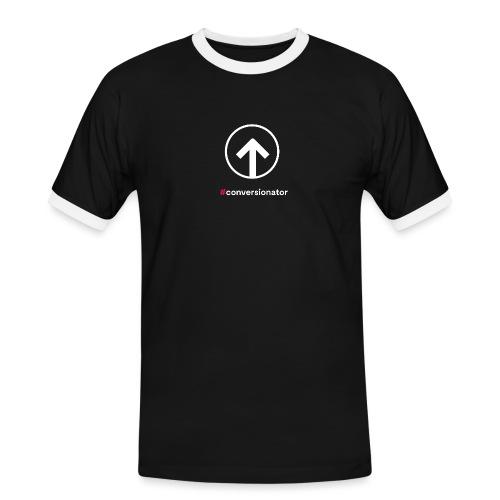 Conversionator mit Pfeil (weiß) - Männer Kontrast-T-Shirt