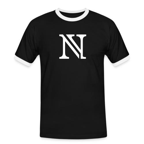 N allein - Männer Kontrast-T-Shirt