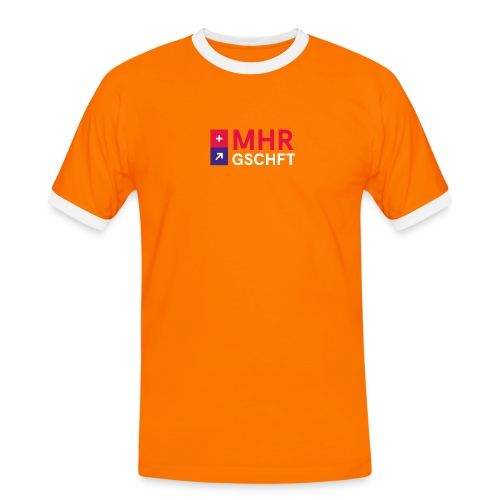 MHR GSCHFT mit Logo - Männer Kontrast-T-Shirt