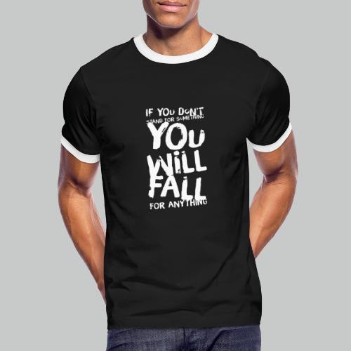 Stand, don't fall - Men's Ringer Shirt