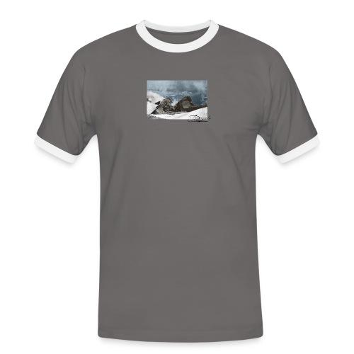 Mountains Colorized - Camiseta contraste hombre