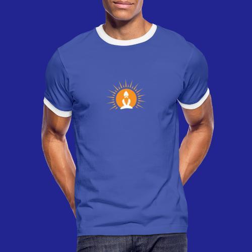 Guramylyfe logo white no text - Men's Ringer Shirt