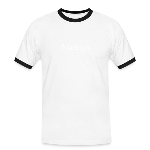 Milehigh Rags Logo White - Kontrast-T-skjorte for menn
