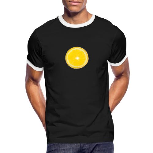 Orange - Männer Kontrast-T-Shirt
