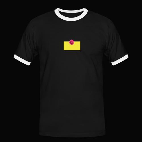 flower - Kontrast-T-skjorte for menn
