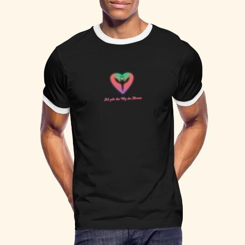 Ich gehe den Weg meines Herzens - Männer Kontrast-T-Shirt