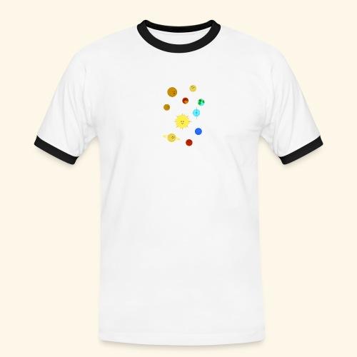 Solsystemet - Kontrast-T-shirt herr