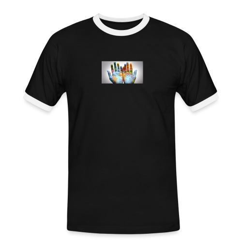 Hands of the world - Kontrast-T-shirt herr