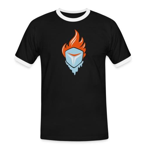 Fire and Ice 3C - Männer Kontrast-T-Shirt