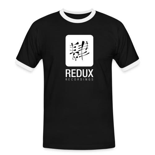 reduxwhite png - Men's Ringer Shirt