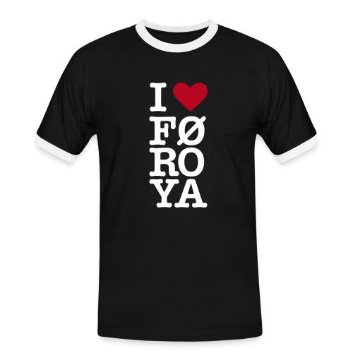 I love Føroya Jeg elsker Færøerne - Men's Ringer Shirt