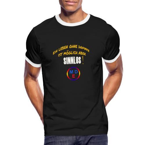 #Tagesmotto - Männer Kontrast-T-Shirt