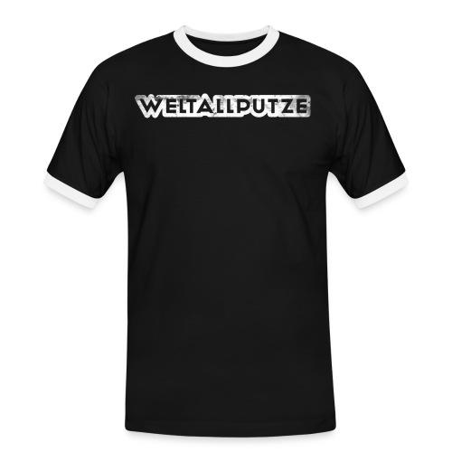 weltallputze grunge 01 weiss - Männer Kontrast-T-Shirt