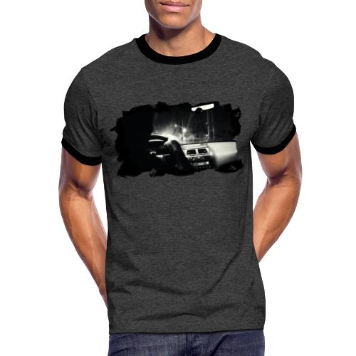 Driving at Night (with white PS logo) - Herre kontrast-T-shirt